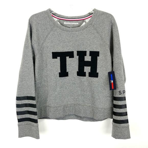 3b626ec7b7cb3 Tommy Hilfiger Sport Crop Top Crewneck Sweater M